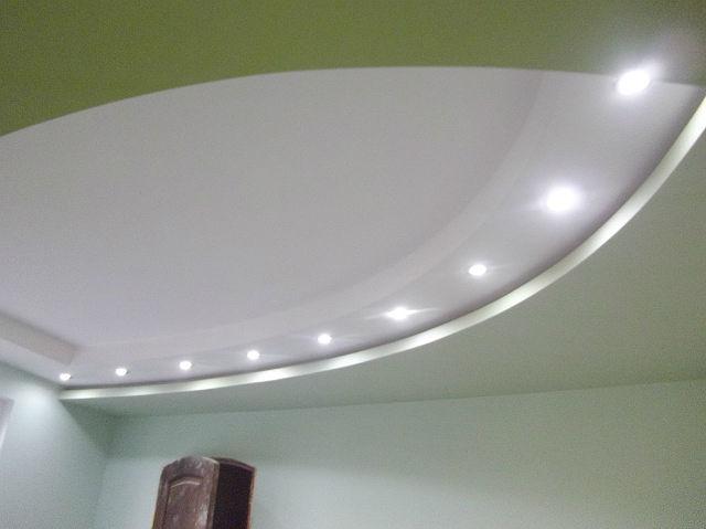 Форма гипсокартонного потолка